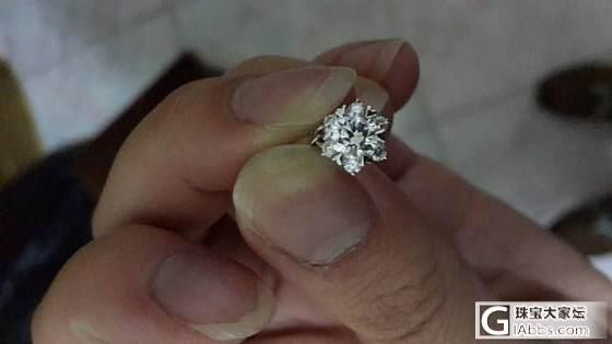 钻戒到手了_钻石