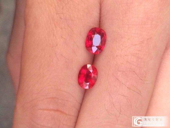 2粒莫桑无烧红宝,选哪一粒好呢!_红宝石刻面宝石
