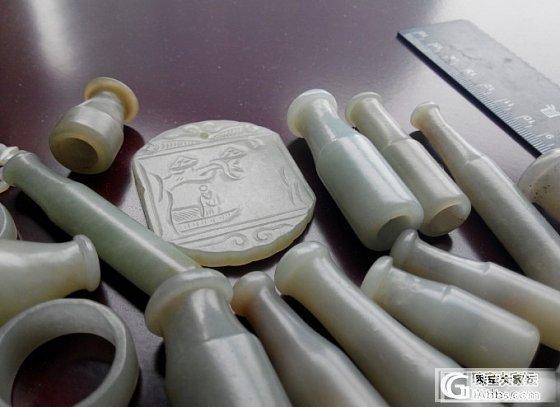 自藏:清代老和田籽玉一堆_和田玉