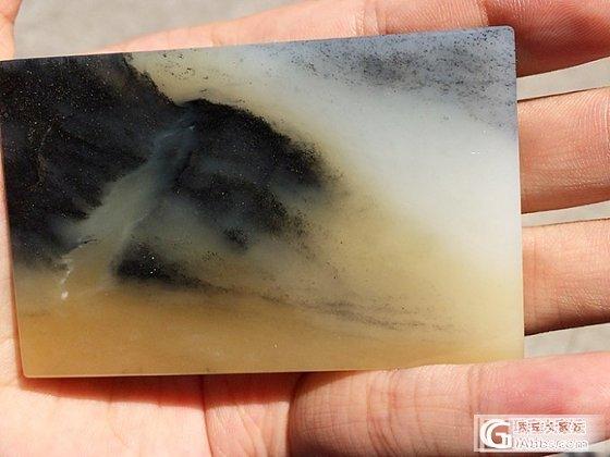 【Mgems微信mikiqiu】自己切磨和田青花籽玉三色带糖 牌子_博物馆