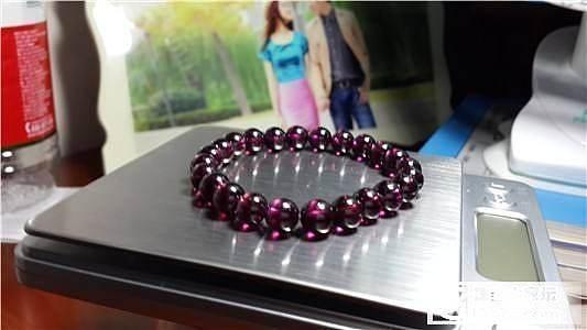 超级低价出玻璃体巴西紫牙乌单圈手链 8MM_宝石