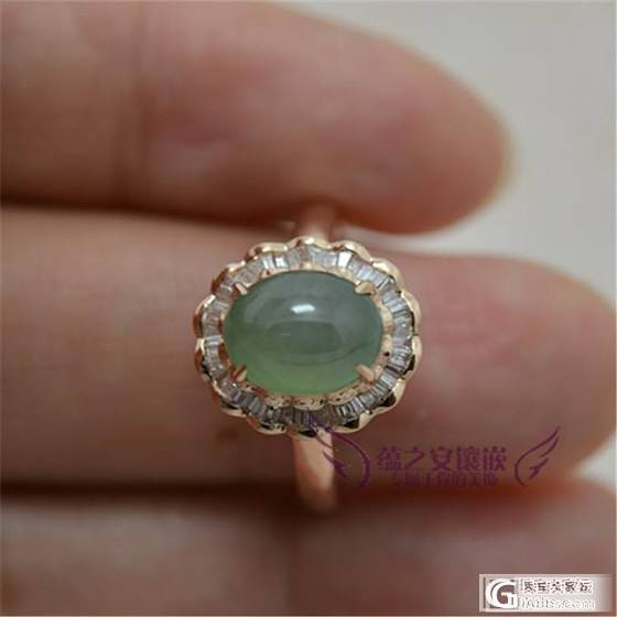 【蕴之安珠宝镶嵌】刚刚赶出的亲货哦,先来两款戒指给大家欣赏欣赏哦_镶嵌珠宝