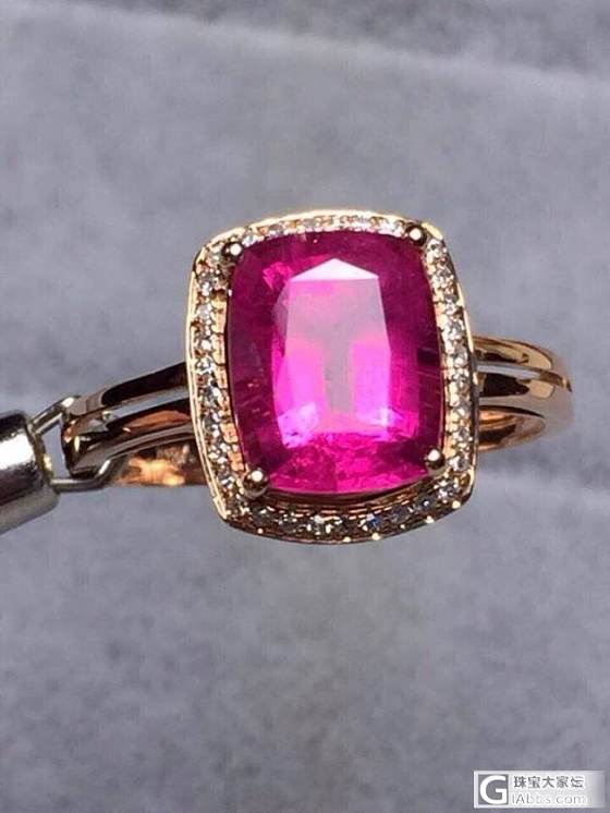 这个卢比来碧玺戒指4800,4克拉左右!_珠宝