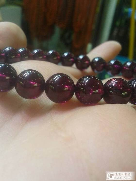 8mm的紫牙乌品质和颜色都很好_宝石