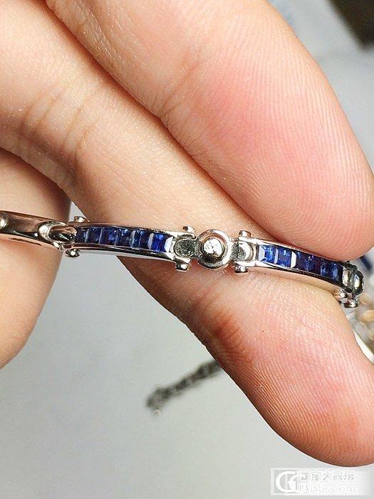 【Mgems】独家设计 斯里兰卡皇家蓝蓝宝石 钻石白金手链_博物馆