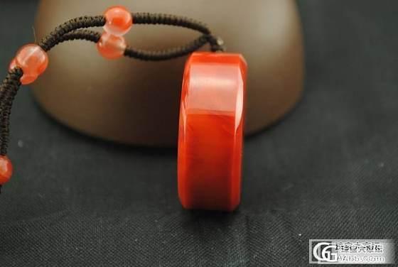 发个我的之前入的南红冰飘手牌,锦红圆牌,特别喜欢~_南红