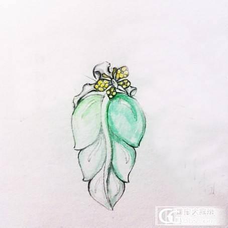 用心设计镶嵌好的高冰种飘绿木那叶子吊坠   坛子里的mm可小刀 包顺丰(有设计图哦~~)_镶嵌珠宝