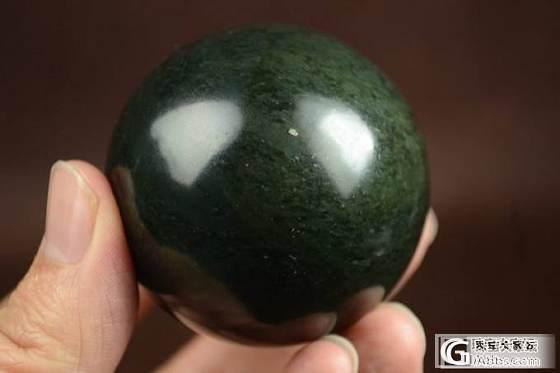 特价 和田玉把件 正品保真 支持复检 油润实用握感圆润青玉健身球_传统玉石