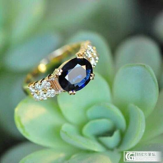 纯天然蓝宝戒指一枚_蓝宝石