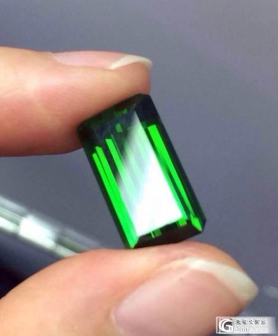 8克拉左右的电光绿 做什么好呢_碧玺刻面宝石