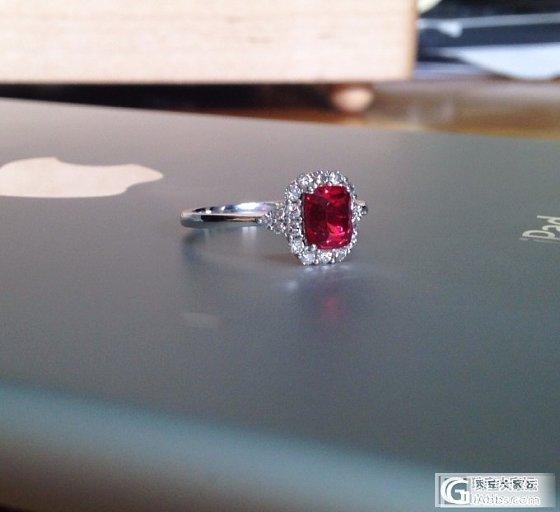酱油好的小红戒指回来啦~顺便请教一下,大家对有裂的尖晶怎么看_尖晶石刻面宝石