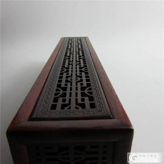 红木香炉木香插红酸枝线香盒卧香熏炉包邮_珠宝