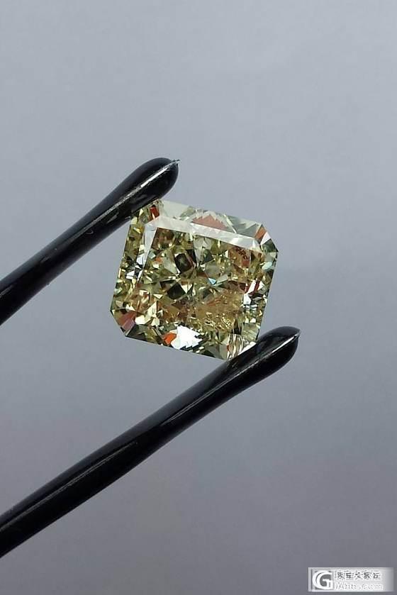 6克拉fancy greenish yellow_钻石