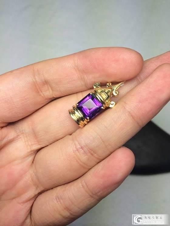 2.25克拉紫水晶18K黄金吊坠 独家设计_博物馆