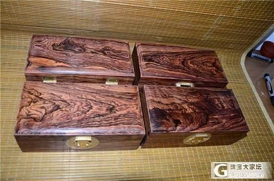 3月7日大叶黄花梨文盒 储物盒4个(第2件)_文玩
