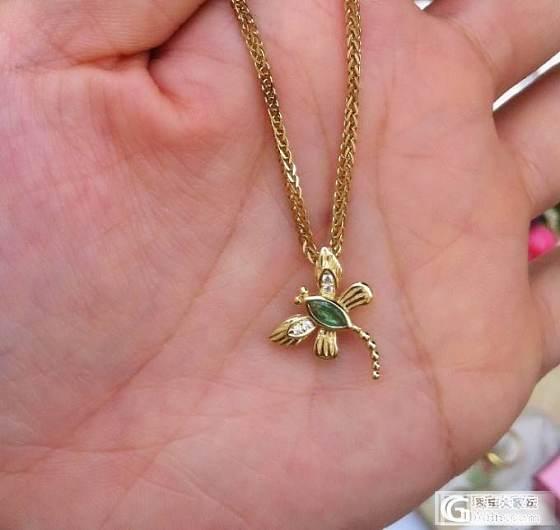 红宝石祖母绿蜻蜓吊坠戒子两用款,大家有没有兴趣_珠宝