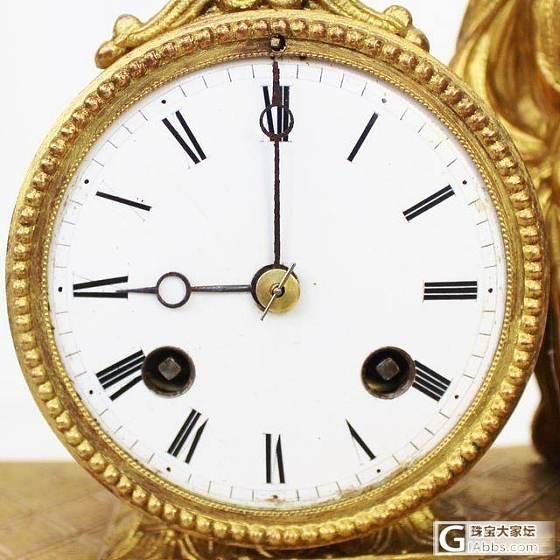 1860法国造鎏金报时钟_古董钟表