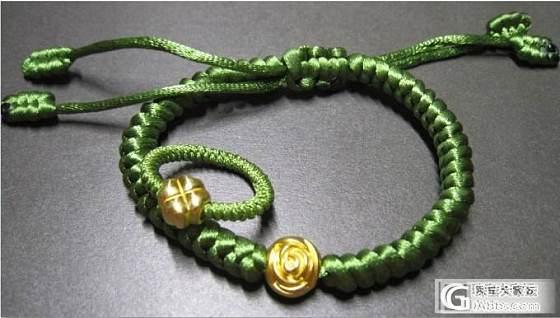 绿色系!戒指,手绳,玫瑰与四叶草的组合套装,互闪闪还完为止~_编绳金福利社