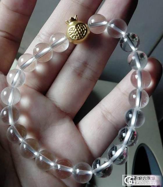 手残星人第一次串珠子...._白水晶串珠金