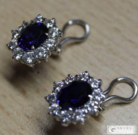 这才天才入手的耳饰,大家看看是什么宝石类的_宝石刻面宝石