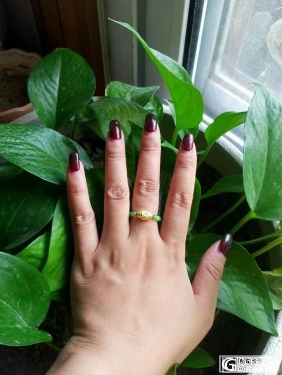 阿北家的链子做了项链,剩余的做了戒指,美得很。_碧玉