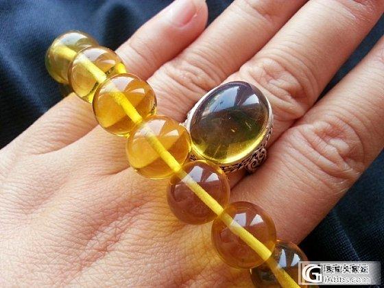 重器。。。出纯手工缅甸金兰珀戒指,爽快的妹子送银币扣(已出)_有机宝石