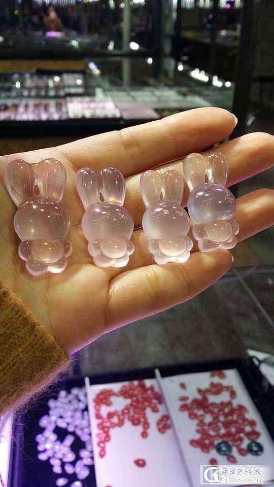 舒俱来手链、戒面、裸石、猫咪、朱砂、粉晶萌物Q兔各种!_宝石