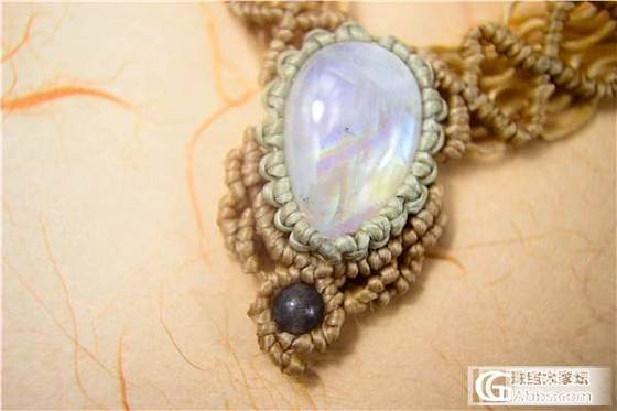 新收的月光石~然后编了条_镶嵌珠宝