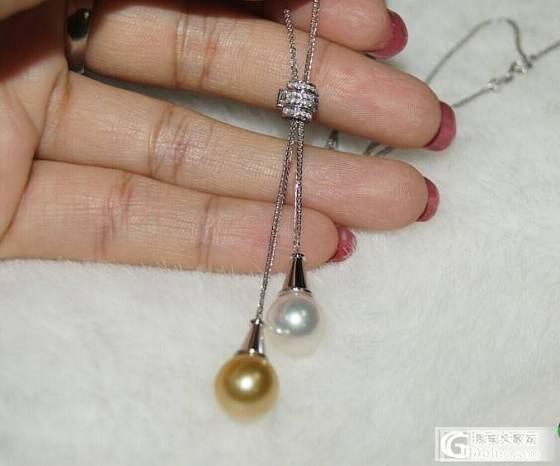 美克拉 绝代双娇 超美珍珠毛衣套链出货喽_有机宝石