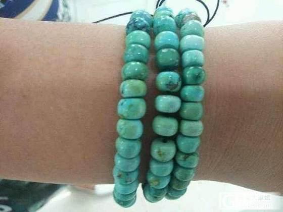 入手变色小手串,美丽的原矿绿松。_珠宝