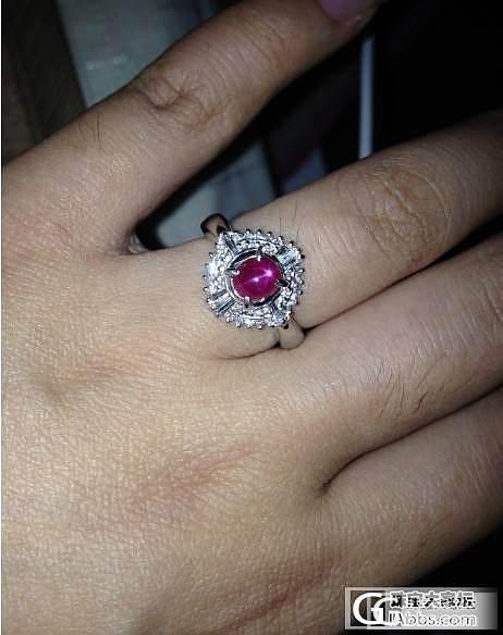 DUANG!晒个缅甸星光红宝戒指_戒指红宝石
