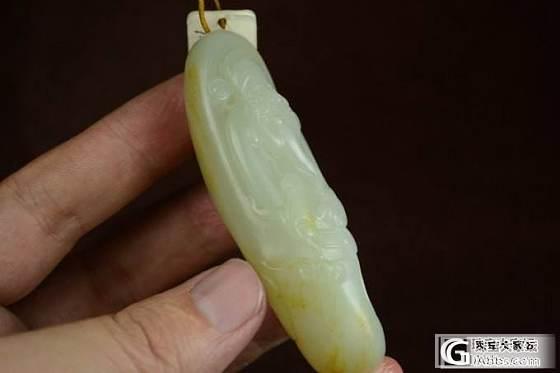 和田玉挂件 保真 支持复检 油润雕刻精细洒金皮白玉籽料财神_传统玉石