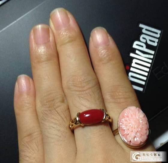 五团戒指还图,两个,大力菊和红阿卡_鑫艺首饰镶嵌