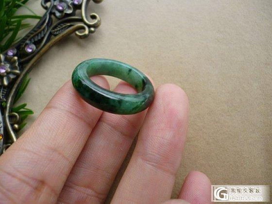 花青绿小环和花青戒指还有冰糯种大平安扣环_翡翠