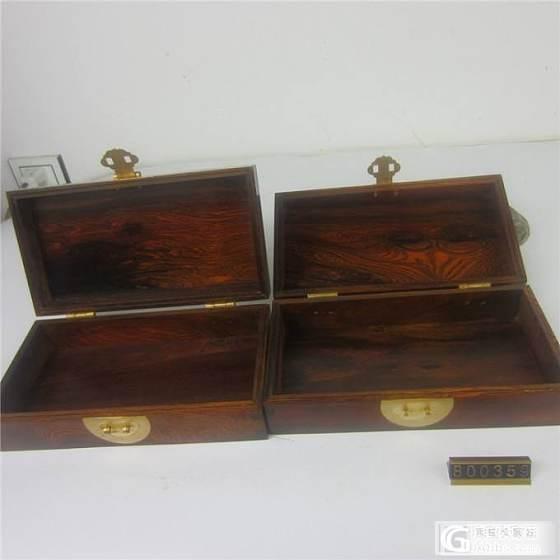 红木文盒/酸枝文盒章料盒一对_珠宝