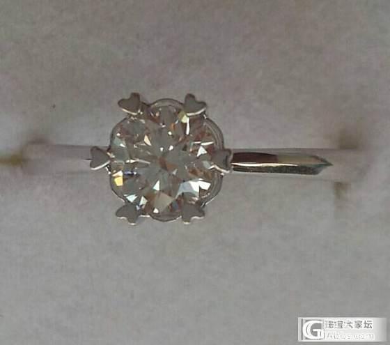 晒晒新鲜出炉的戒指,住石0.5CT_珠宝