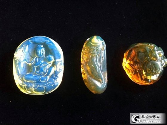 多米尼加蓝珀和缅甸琥珀和墨西哥琥珀对比图_有机宝石