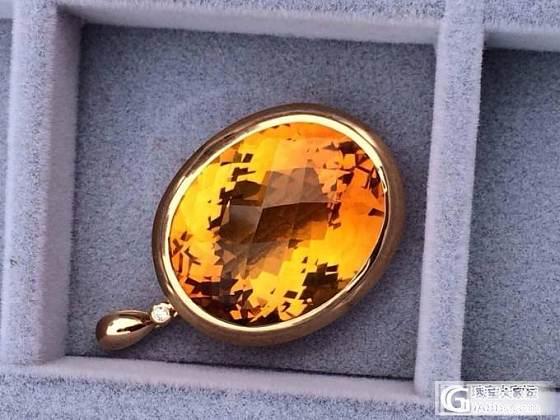 18K金镶稀有天然黄金水晶,招财辟邪,35*28mm,仅此一颗_宝石
