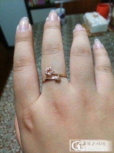 论坛跟团的星星戒指真心喜欢,可是我还是不知道胖中指戴几号戒指啊!_戒指金