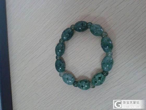 希望置换一串三彩珠链或是52-54圈口的镯子_翡翠