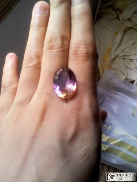 晒晒新入的紫黄晶和托帕石_水晶