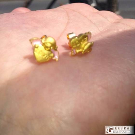 PB小天使耳丁,还一超实用的塑料盒,放手链用正好_耳钉金