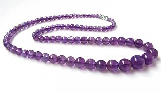 出个紫水晶塔链和西瓜碧玺坠子_宝石