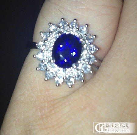 买这个蓝宝石戒指,求个人点评..拍砖(回贴必闪)_戒指蓝宝石