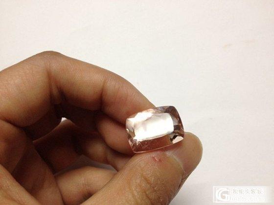 喜欢方的摩根  这个大家看看怎么样  手机渣图_摩根石刻面宝石
