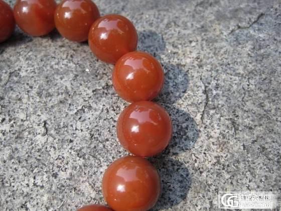 精品南红散珠及大尺寸(13mm)南红单圈手链_传统玉石