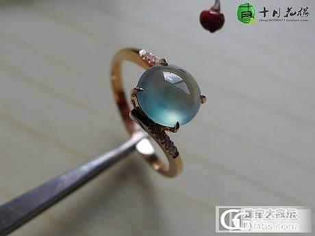 【十月】5.16新货56件之蓝花戒指 售价2800_十月花嫁翡翠