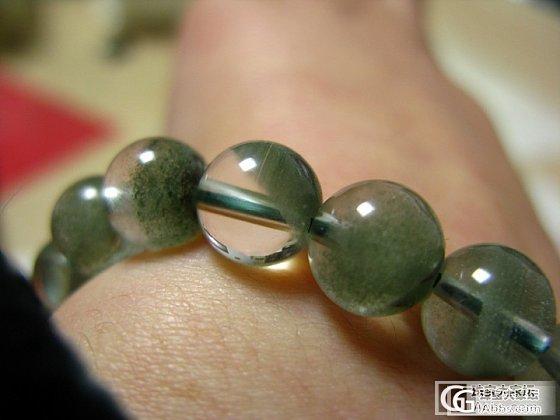 (已出)然厌倦了,出绿幽灵手串9.5mm_宝石