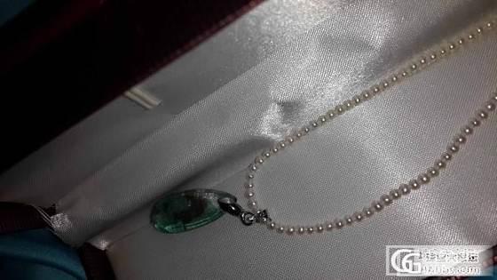 前天团昨天就收到的2.5mm珍珠链子搭配吊坠效果图_工艺