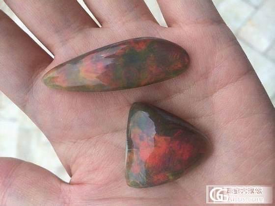 请各位大师鉴定是否是天然的非洲黑欧泊,是否有购买价值_欧泊刻面宝石